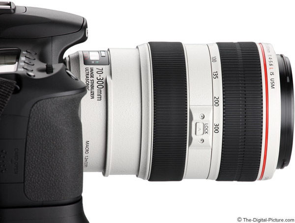 Canon EF 70-300mm f/4-5.6L IS USM Lens Side View