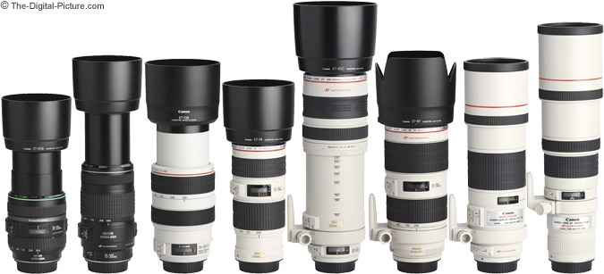 Telephoto Zoom Lenses with Hoods Comparison
