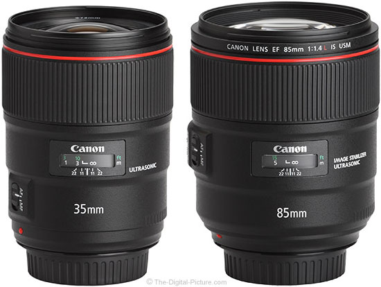 Canon EF 35mm f/1.4L II Compared to 85mm f/1.4L IS Lens