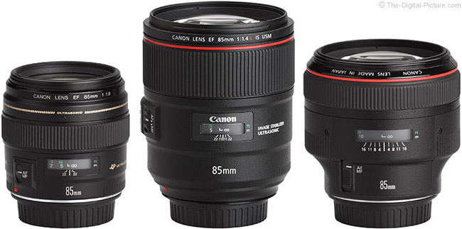 Canon 85mm Lens Family
