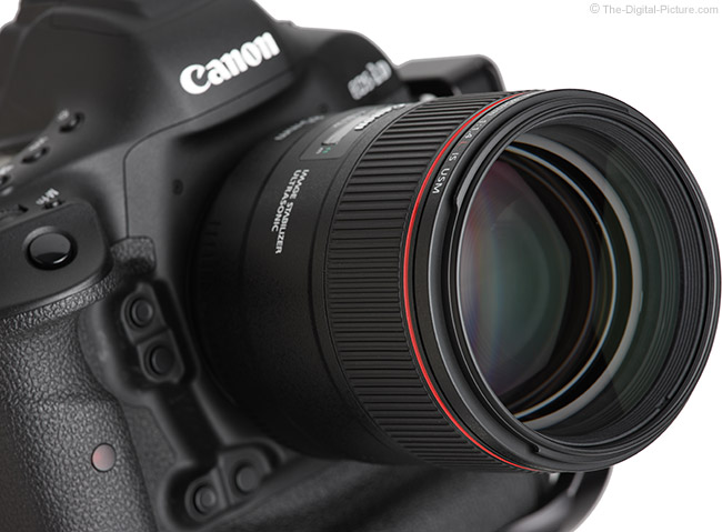 Canon EF 85mm f/1.4L IS USM Lens Angled Right View