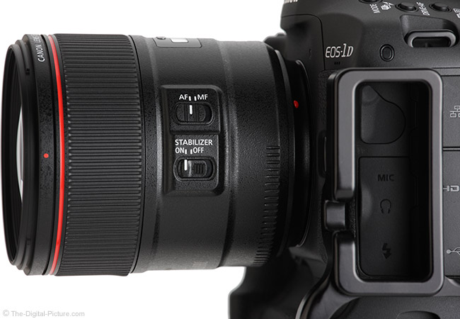 Canon EF 85mm f/1.4L IS USM Lens Side View