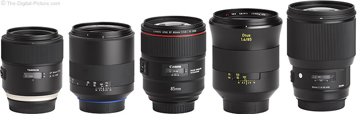 Canon EF 85mm f/1.4L IS USM Lens Compared to Similar Lenses