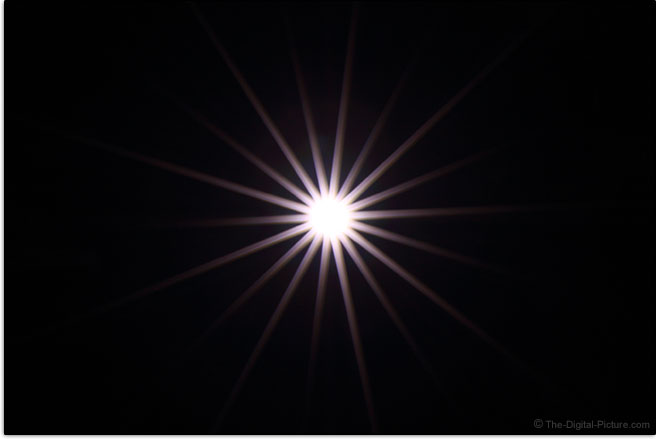 Canon EF 85mm f/1.4L IS USM Lens Starburst Effect Example