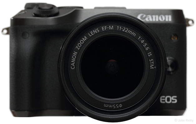 Canon EF-M 11-22mm f/4-5.6 IS STM Lens Front View Closeup