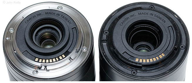 Canon EF-M 11-22mm IS STM vs. EF-M 55-200mm IS STM Lens Mounts