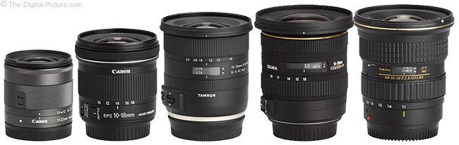 Canon EF-M 11-22mm f/4-5.6 IS STM Lens Comparison