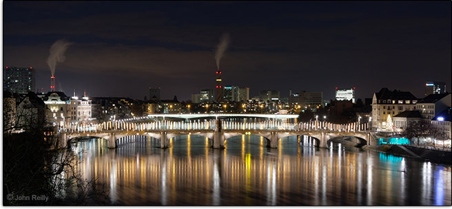 Canon EF-M 18-150mm f/3.5-6.3 IS STM Lens Sample Image Rhine River in Basel, Switzerland
