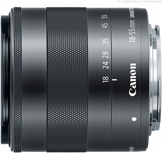 Canon EF-M 18-55mm f/3.5-5.6 IS STM Lens Side