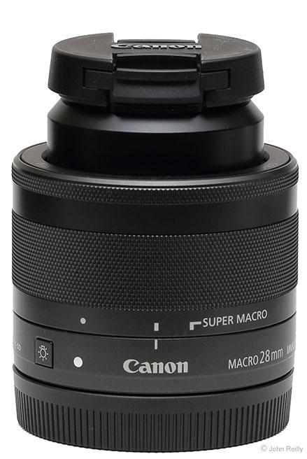 Canon EF-M 28mm f/3.5 Macro IS STM Lens Cap on Lens