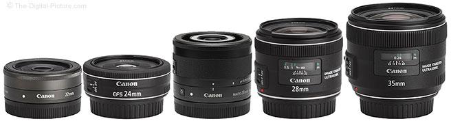 Canon EF-M 28mm f/3.5 Macro IS STM Lens Comparison to Non Macro Lenses