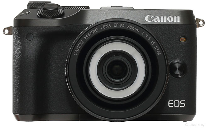 Canon EF-M 28mm f/3.5 Macro IS STM Lens Front View