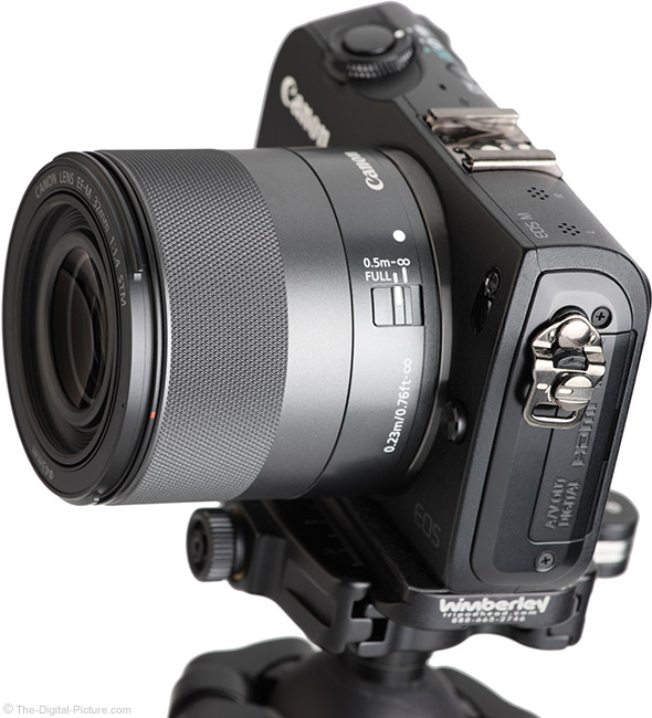 Canon EF-M 32mm f/1.4 STM Lens Angle View
