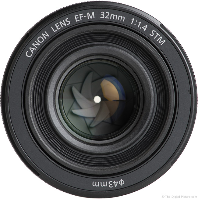 Canon EF-M 32mm f/1.4 STM Lens Front View