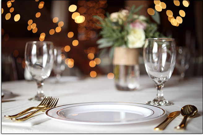 Canon EF-M 32mm f/1.4 STM Lens Wedding Place Setting Sample Picture