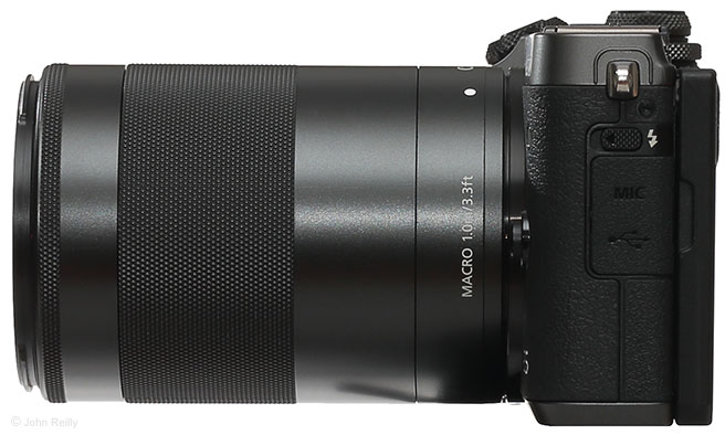 Canon EF-M 55-200mm f/4.5-6.3 IS STM Lens Side View