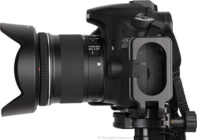 Canon EF-S 10-18mm f/4.5-5.6 IS STM Lens Side View
