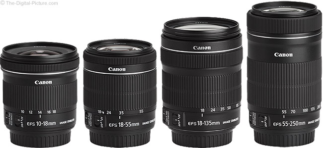 Canon EF-S STM IS Lenses