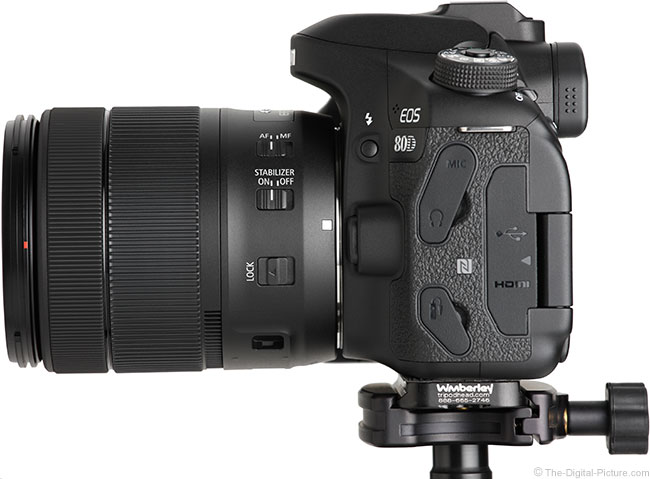 Canon EOS 80D Side View