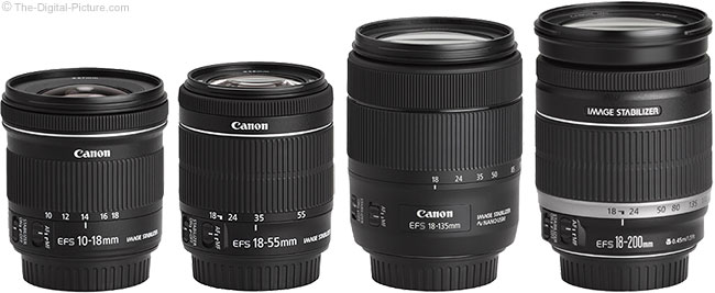 Canon EF-S 18-135mm IS USM Lens Compared to Similar Lenses
