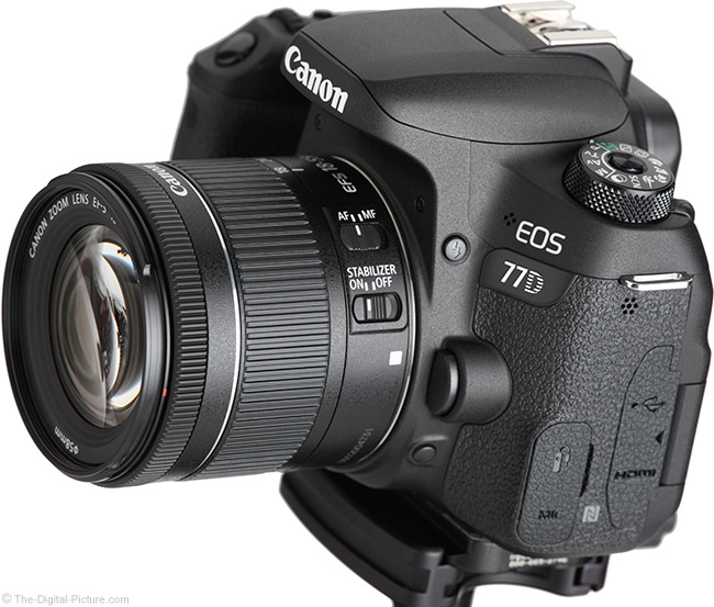Canon EF-S 18-55mm f/4-5.6 IS STM Lens Angle View