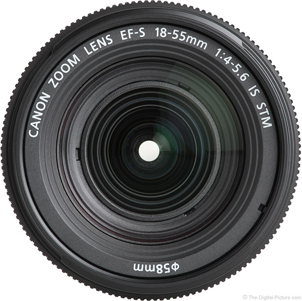 Canon EF-S 18-55mm f/4-5.6 IS STM Lens Front View