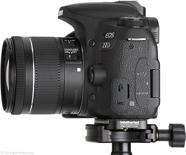 Canon EF-S 18-55mm f/4-5.6 IS STM Lens Side View