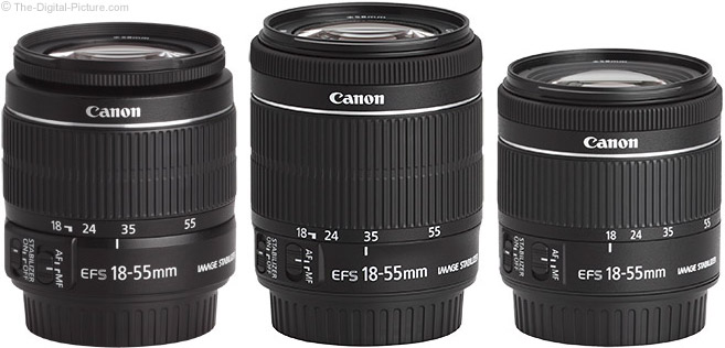 Canon EF-S 18-55mm f/4-5.6 IS STM Lens Compared to Previous Models