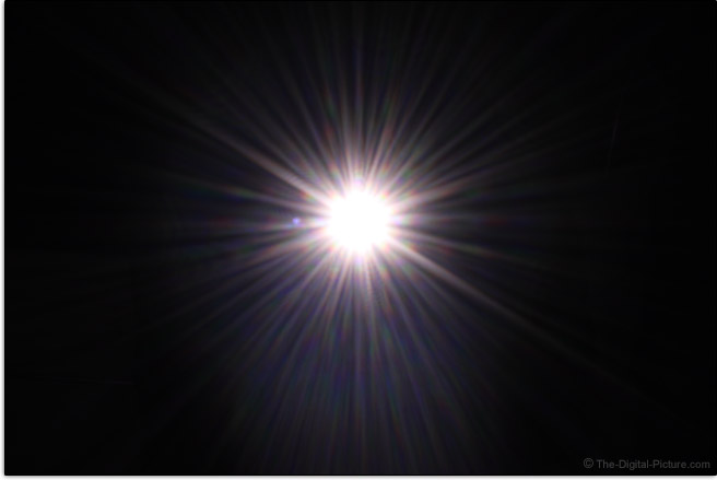 Canon EF-S 18-55mm f/4-5.6 IS STM Lens Sunstar Effect Example
