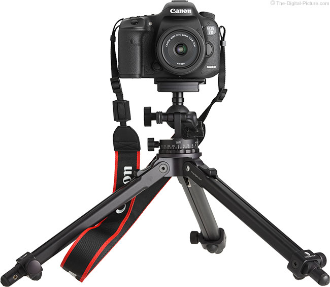Canon EF-S 24mm STM Lens – Front View on Tripod