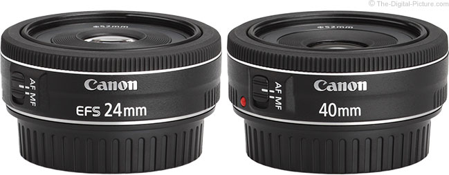 The Canon Pancake Lenses Side by Side