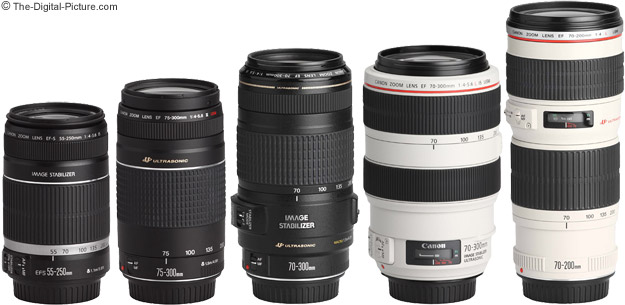 Canon EF 75-300mm f/4-5.6 III USM Lens Comparison