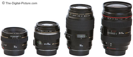 Canon EF-S Macro Lens Size Comparison