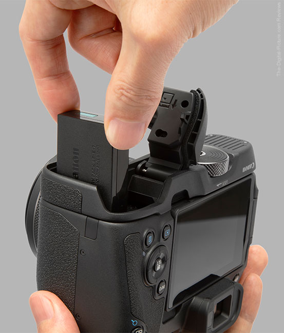 Canon EG-E1 Extension Grip Cover Open