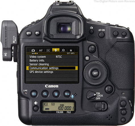 Canon EOS-1D X with the Canon WFT-E6A Wireless File Transmitter Installed