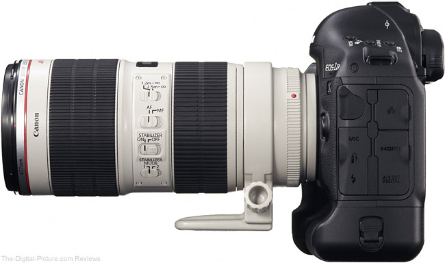 1D X with Canon EF 70-200mm f/2.8 L IS II USM Lens Mounted