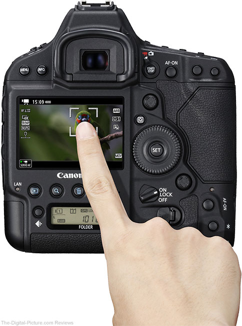 Canon EOS-1D X Mark II Touch Screen Demonstration