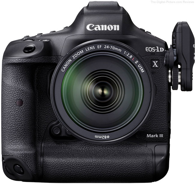 Canon EOS-1D X Mark III Front with WFT-E9