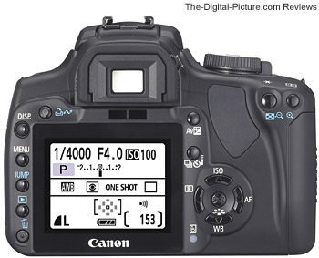 Canon EOS Rebel XTi / 400D Back View