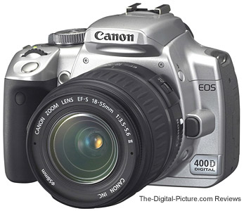 Canon EOS Rebel XTi / 400D in Silver
