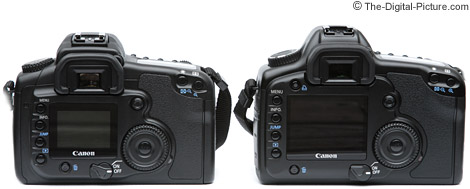 Canon EOS 20D / 5D Size Comparison - Rear