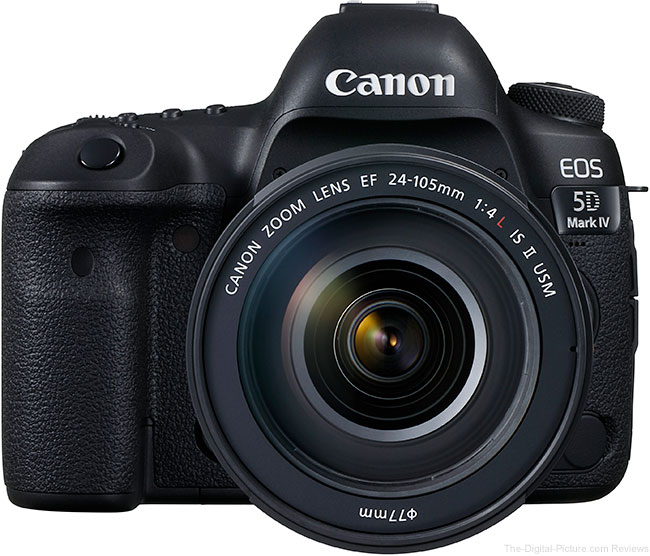 Canon EOS 5D Mark IV with EF 24-105mm f/4L IS II USM Lens Front View