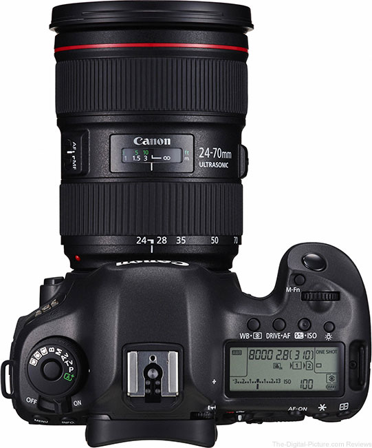 Canon EOS 5Ds – Top View with Lens