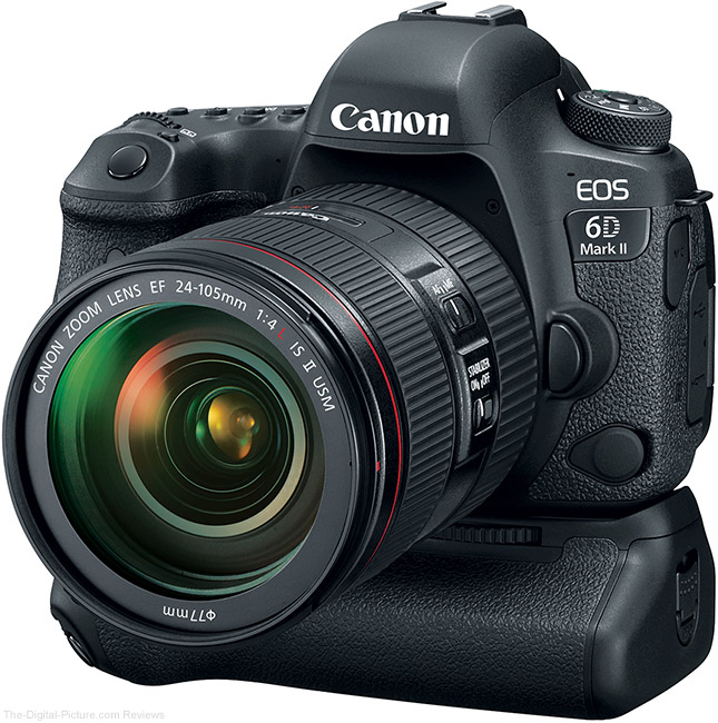 Canon EOS 6D Mark II with BG-E21 Battery Grip – Angle