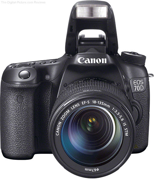Canon EOS 70D with Flash Up