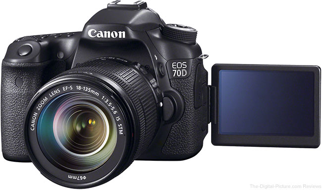 Canon EOS 70D with LCD Facing Front