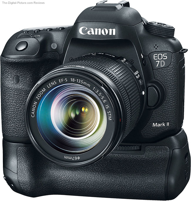Canon BG-E16 on EOS 7D Mark II – Front View
