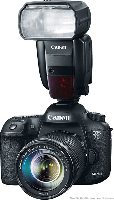 Canon EOS 7D Mark II with Flash Mounted