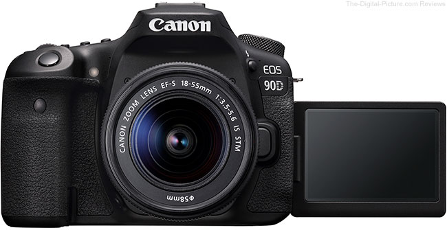 Canon EOS 90D LCD Open Front