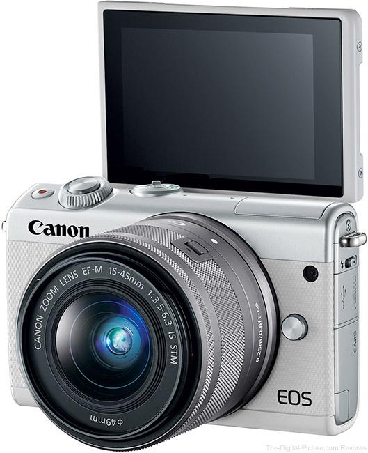Canon EOS M100 LCD Open Upward